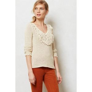 Angel Of The North Tonetta Crochet Knit Sweater